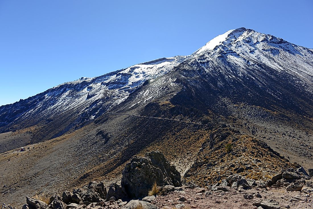 Pico de Orizaba, in Mexico, is the highest volcano in North America.