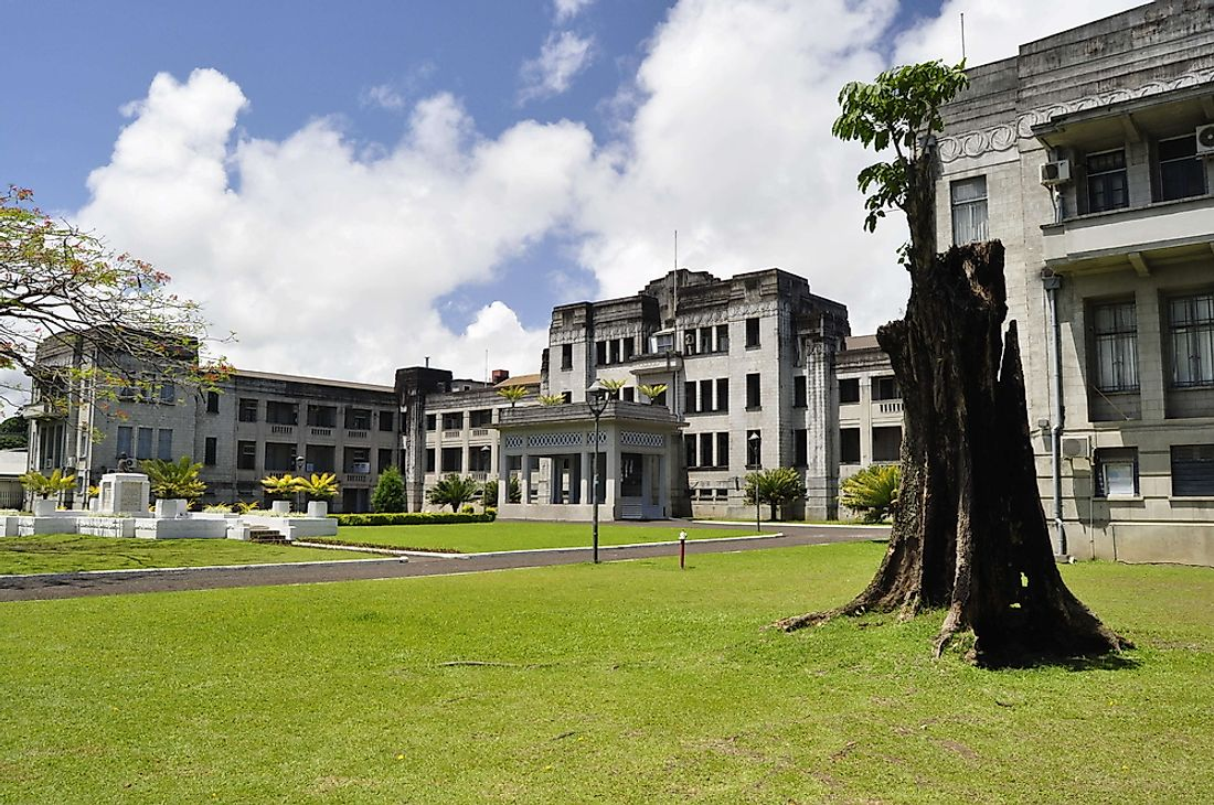 The government buildings of Fiji.