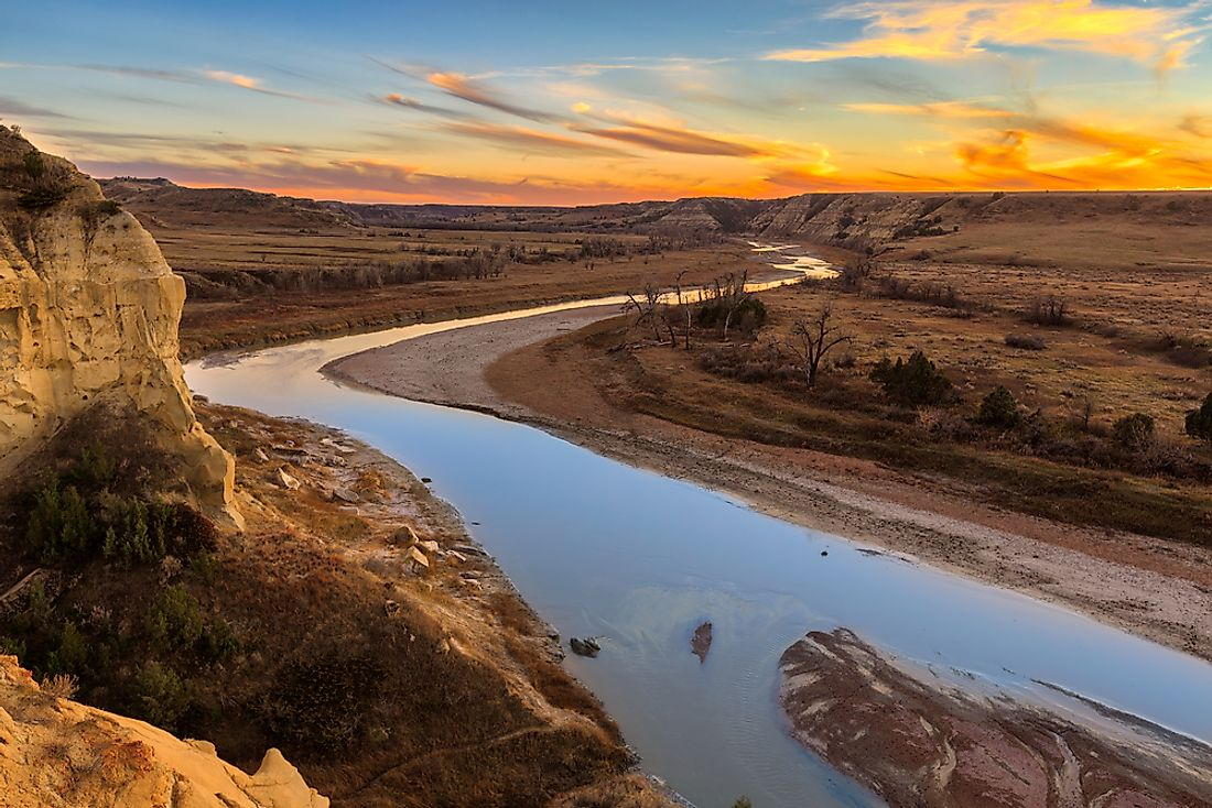 The Missouri River in North Dakota.