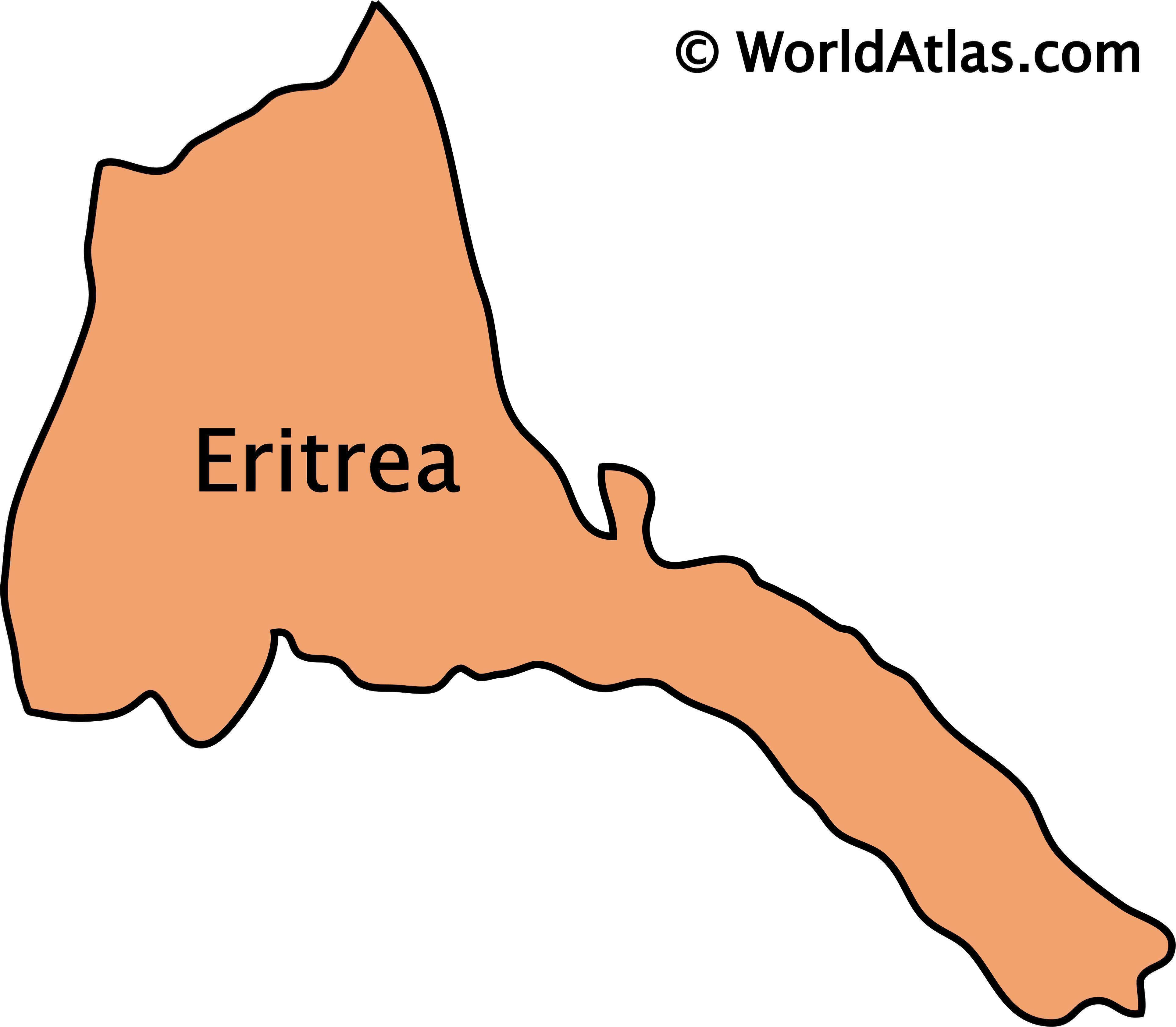 Outline Map of Eritrea