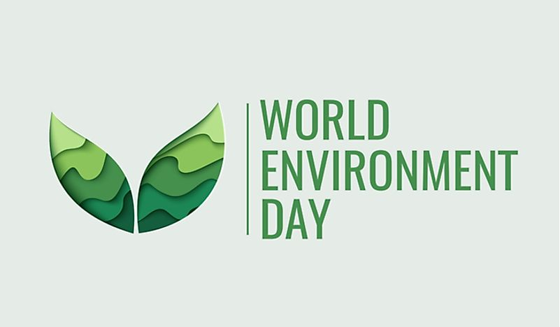 A logo advertising World Environment Day.