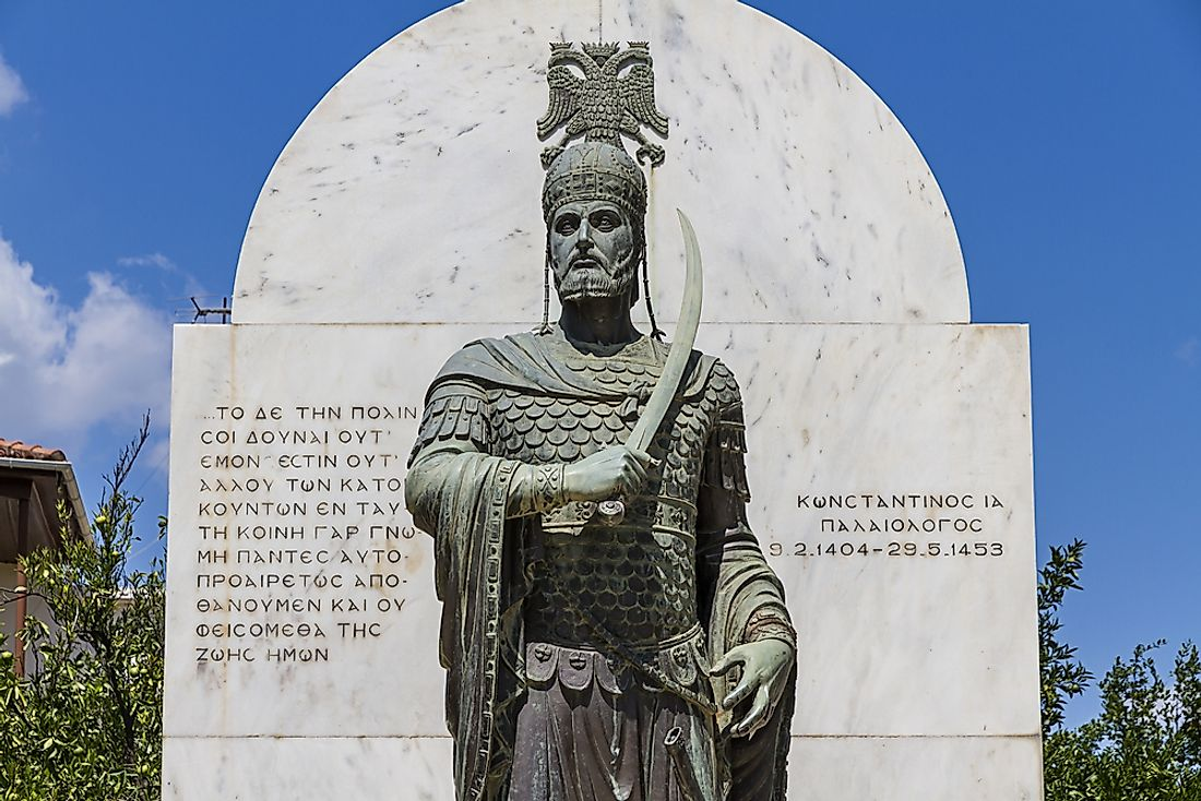 Statue of the last Byzantine emperor.