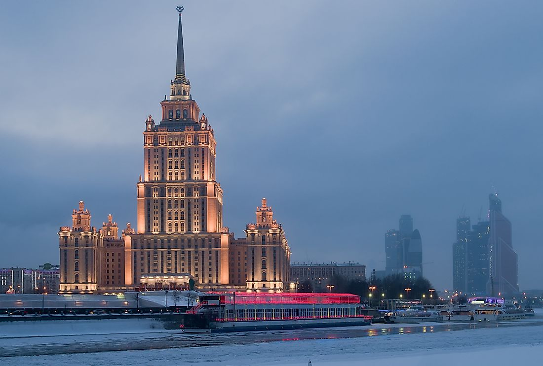 "The Hotel Ukraine is an example of what is sometimes called ""Stalinist Architecture""."