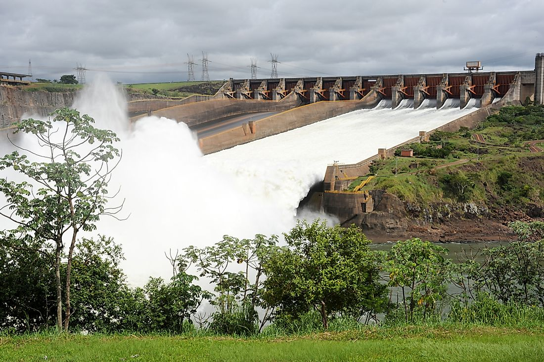 Itaipu Dam is jointly managed by Brazil and Paraguay.