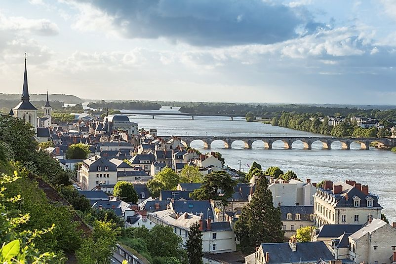 The French city of Saumur along the Loire River.