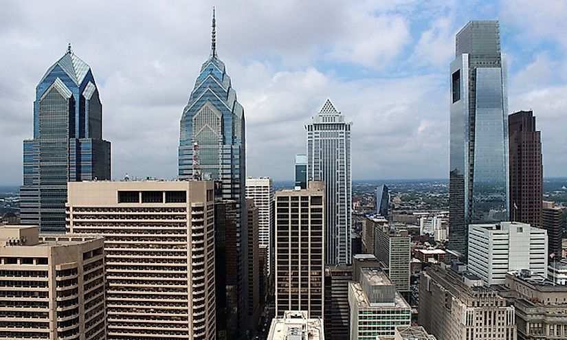 The skyline of Philadelphia