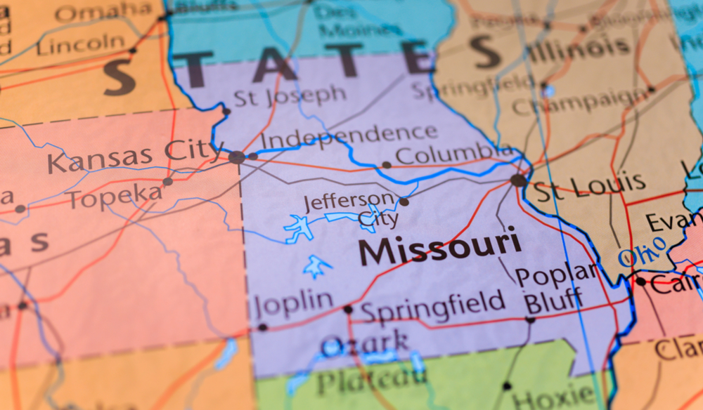 Missouri is bordered by eight states.