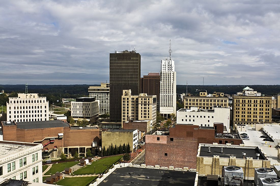 Akron, Ohio, is an example of a satellite town of Cleveland, Ohio.