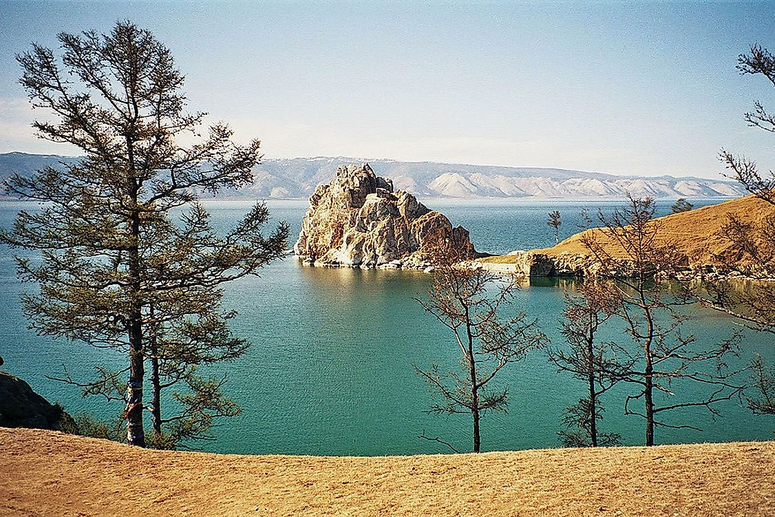 Olkhon Island in Lake Baikal is one of the largest island-lakes in the world.