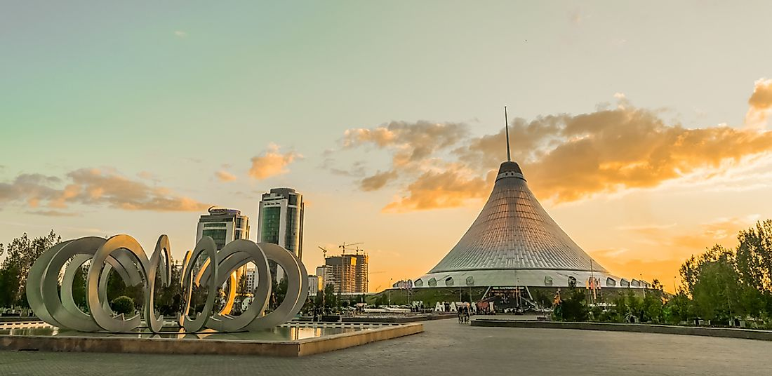 Astana is known for its stunning architecture.  Editorial credit: Camera_Bravo / Shutterstock.com