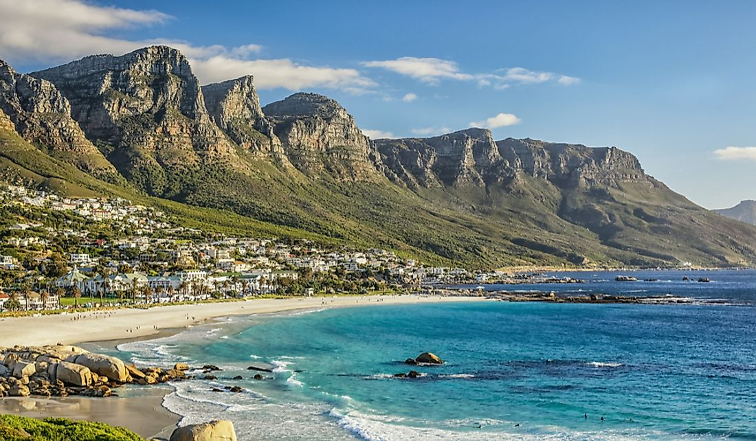 A beach in Cape Town, a South African city that is highly popular among tourists across the world.