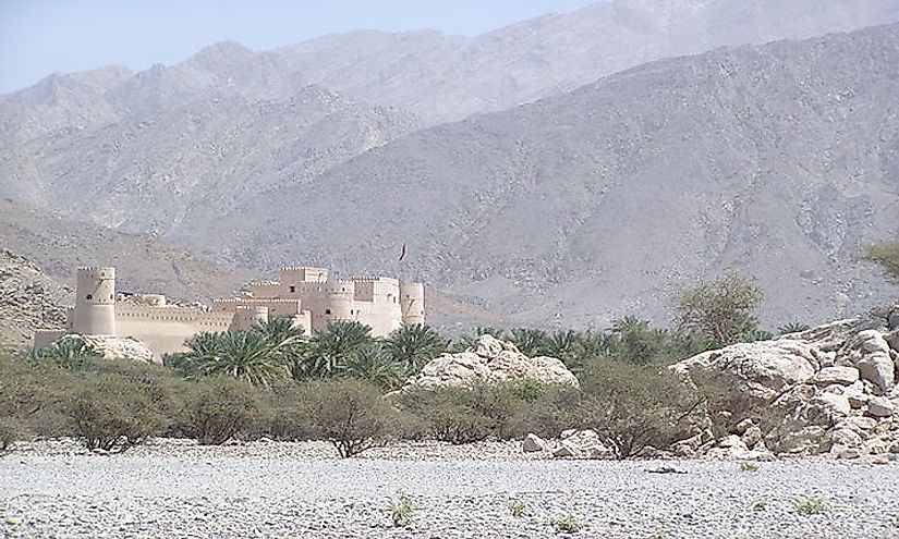 Al Hajar Mountain Range in Oman