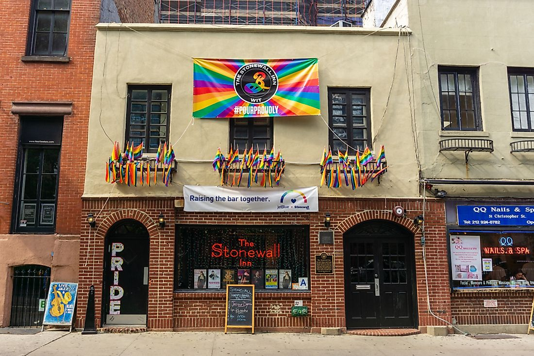 The Stonewall Inn in 2018. Editorial credit: Massimo Salesi / Shutterstock.com.