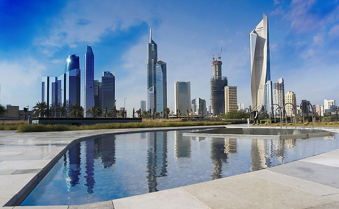 Kuwait City, the capital of Kuwait.