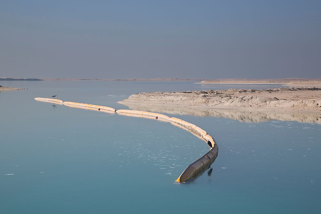 Land reclamation in the UAE.