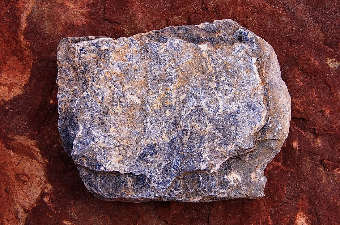 A slab of andesite.