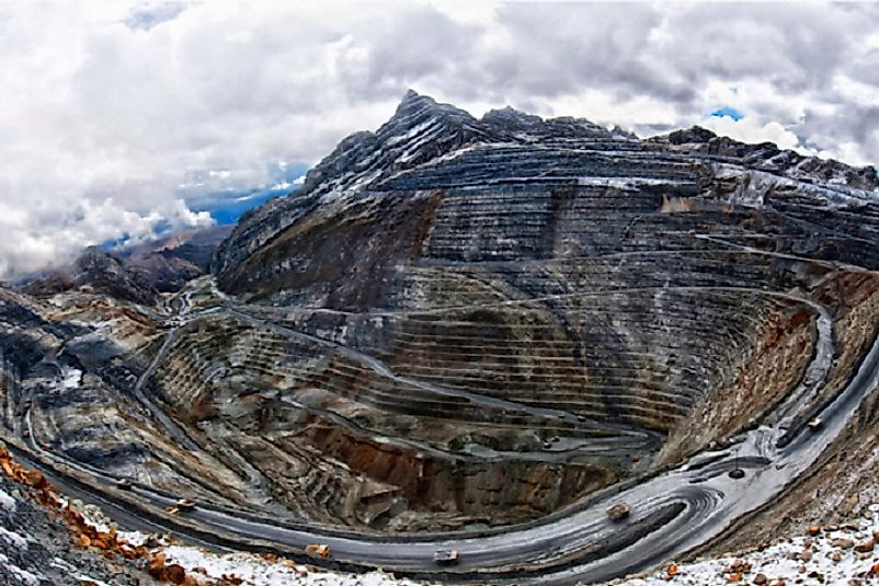 Much of Peru's external debt has been used to develop its mineral resources, such as this copper mine.