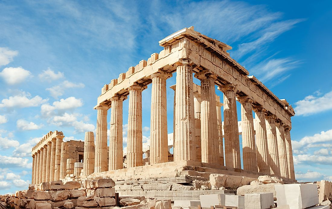 The Parthenon in the Acropolis of Athens.