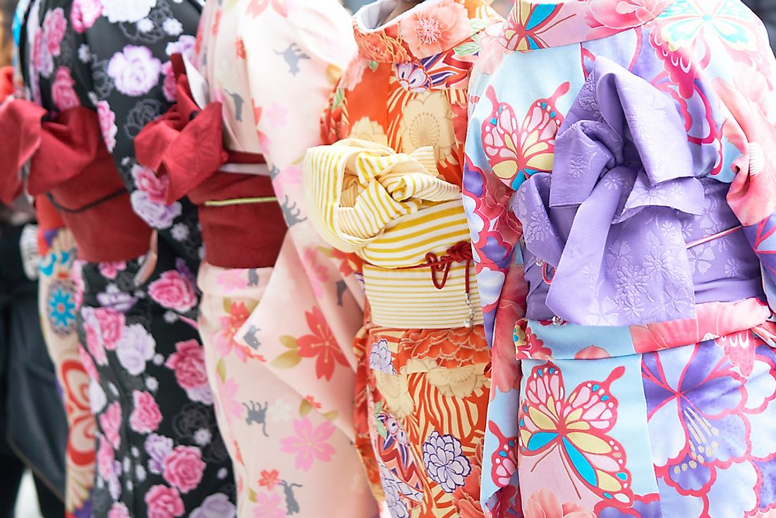 Traditional Japanese kimonos.