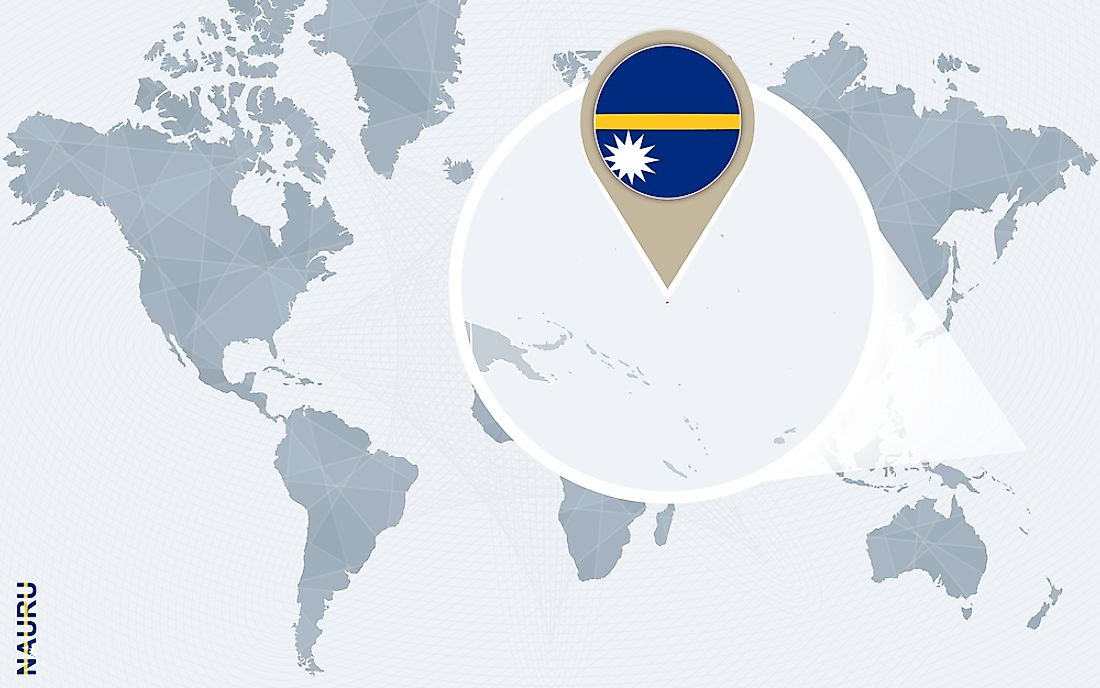 Nauru is an island located in the Pacific Ocean, and it is the world's second-smallest republic. Nauru does not have any official capital city.