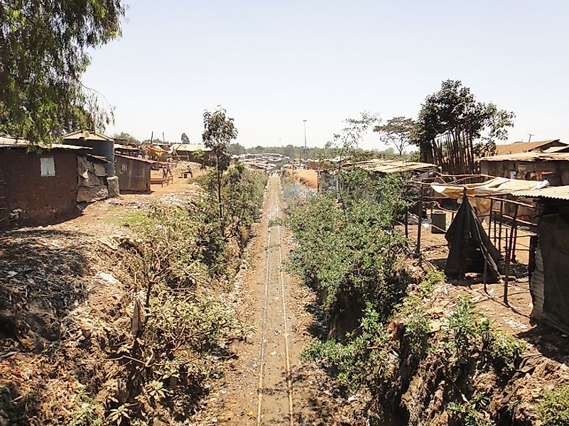 Kibera slums in Kenya.
