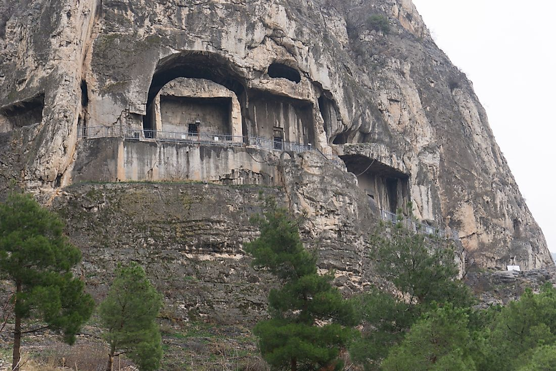 King Rock Tombs from the Pontus Kingdom.