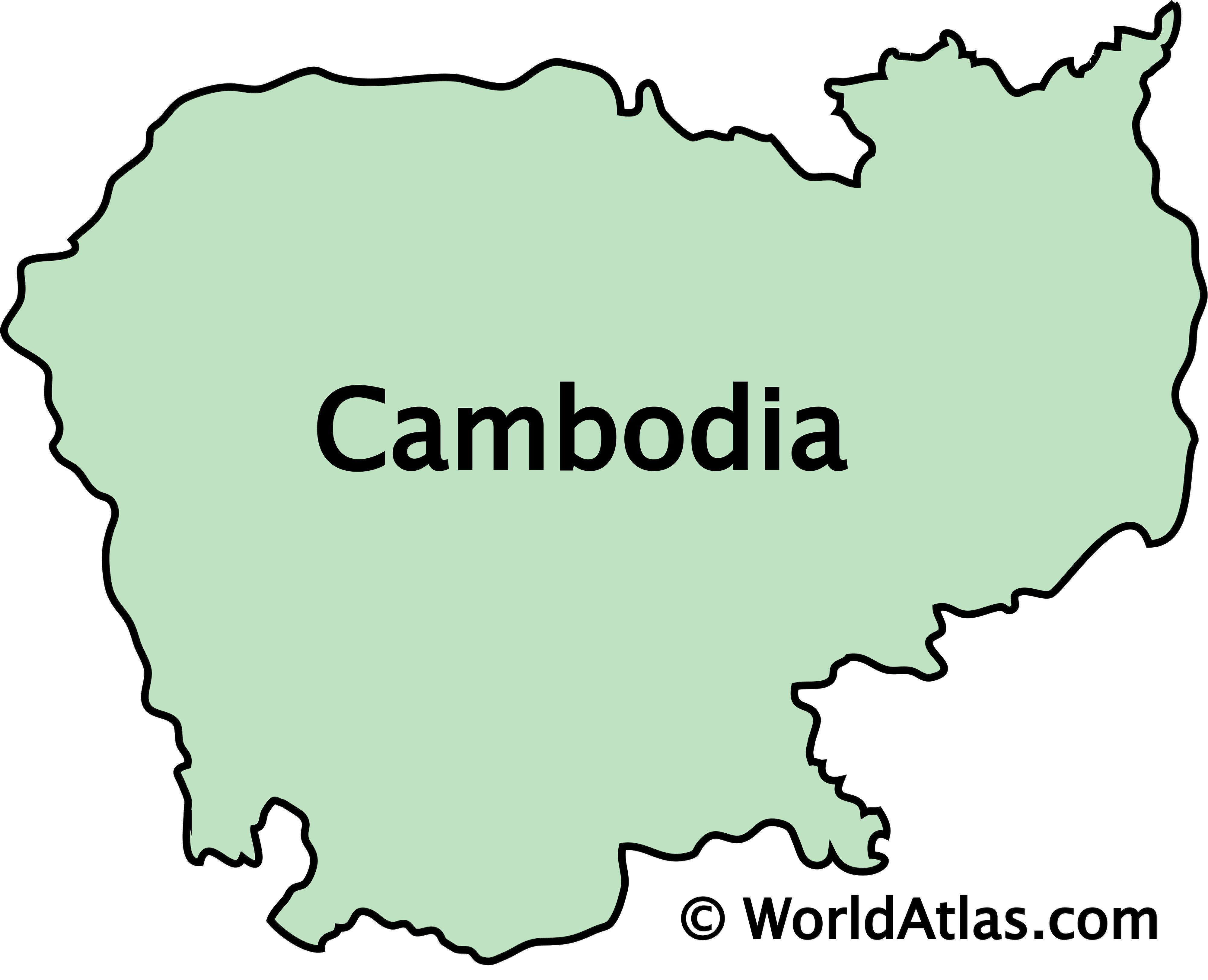 Outline Map of Cambodia