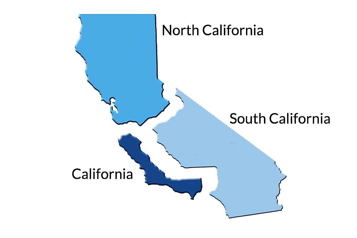 The three new states of California as proposed by the Cal 3 initiative.