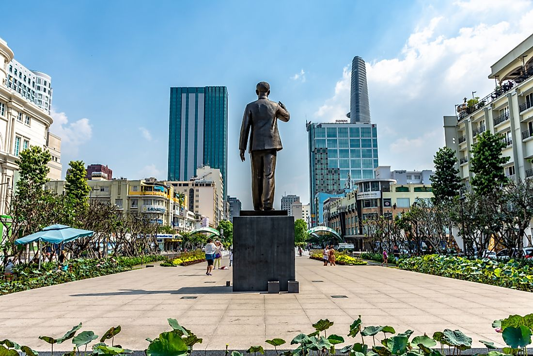 Statue of Ho Chi Minh in Ho Chi Minh City, Vietnam.Editorial credit: Chansak Joe / Shutterstock.com.