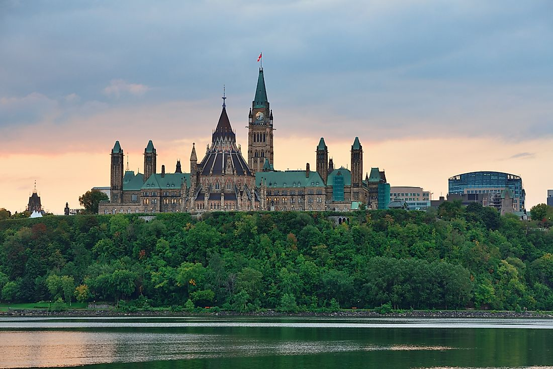 Parliament Hill is the seat of the federal government of Canada.