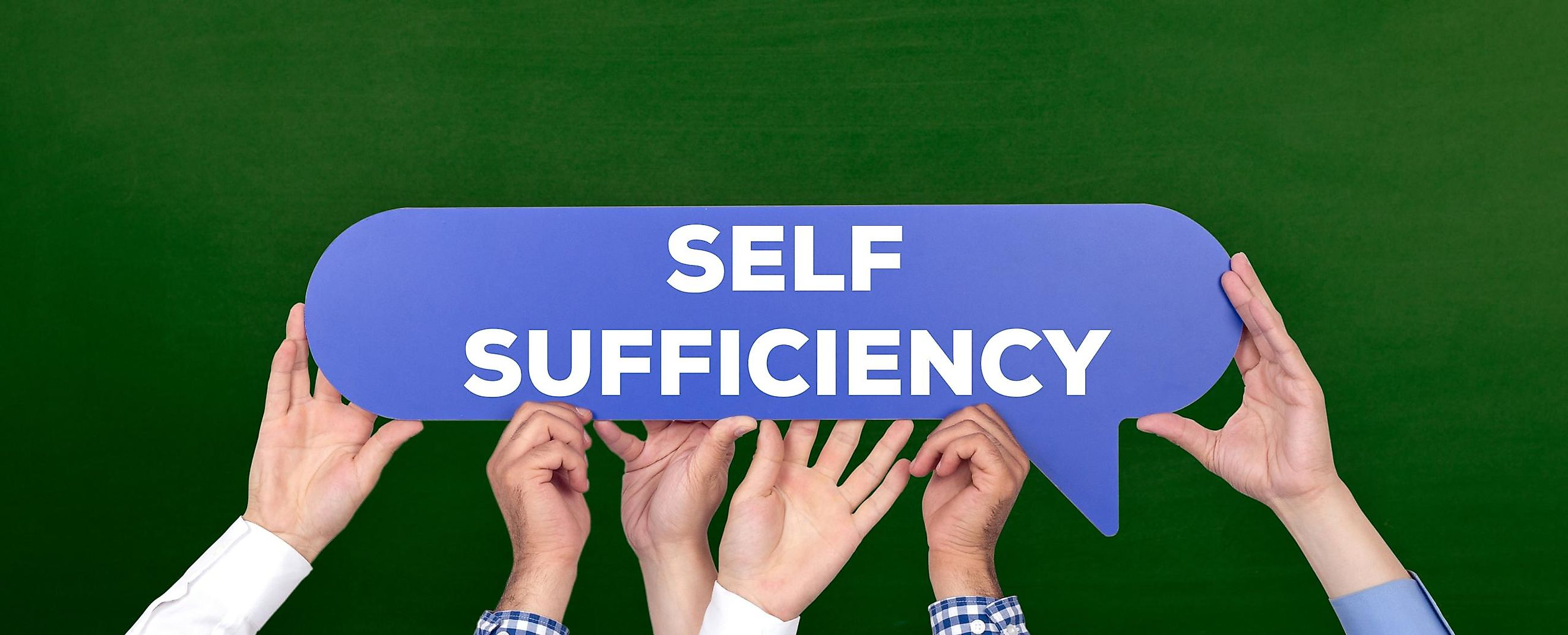 The self-sufficiency of a system can be viewed as a feature that allows a particular system to exist without the help of other systems.
