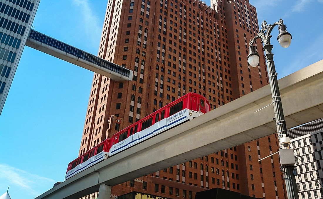 "The Detroit People Mover is said to be an example of a ""white elephant project"". Photo credit: Michael Urmann / Shutterstock.com."