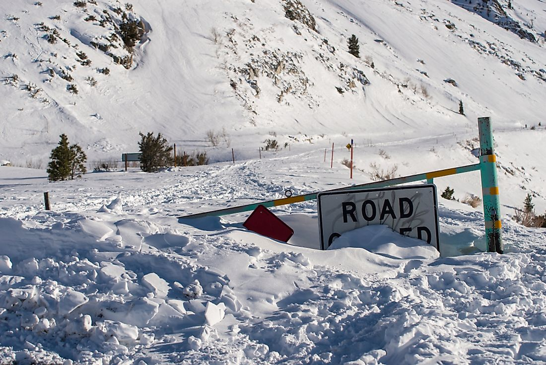 Avalanches can cause road closures.