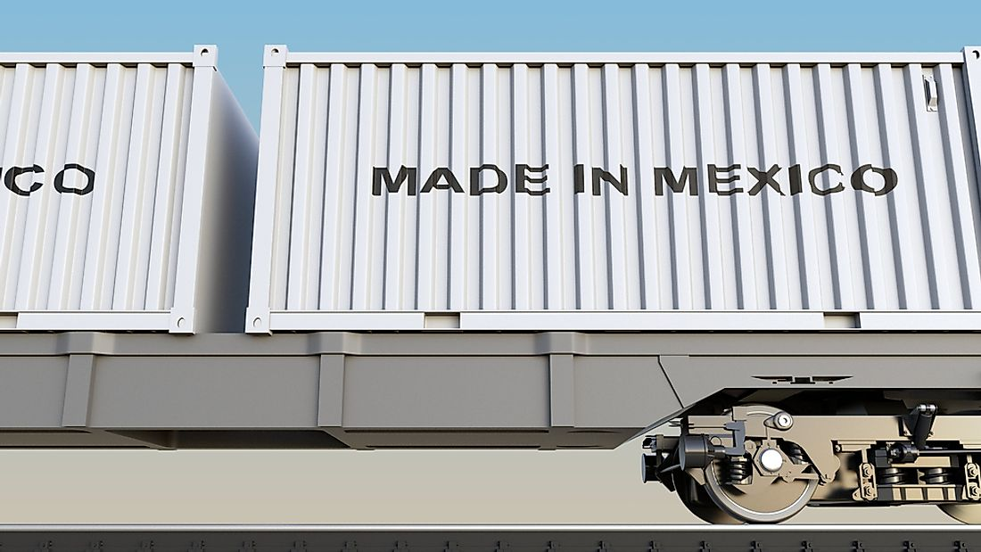 Cargo containers from Mexico.