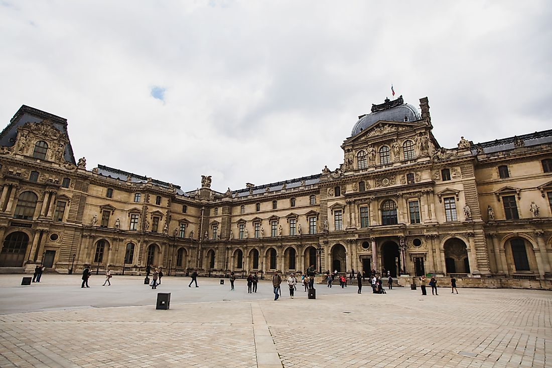 The Louvre Museum in Paris.
