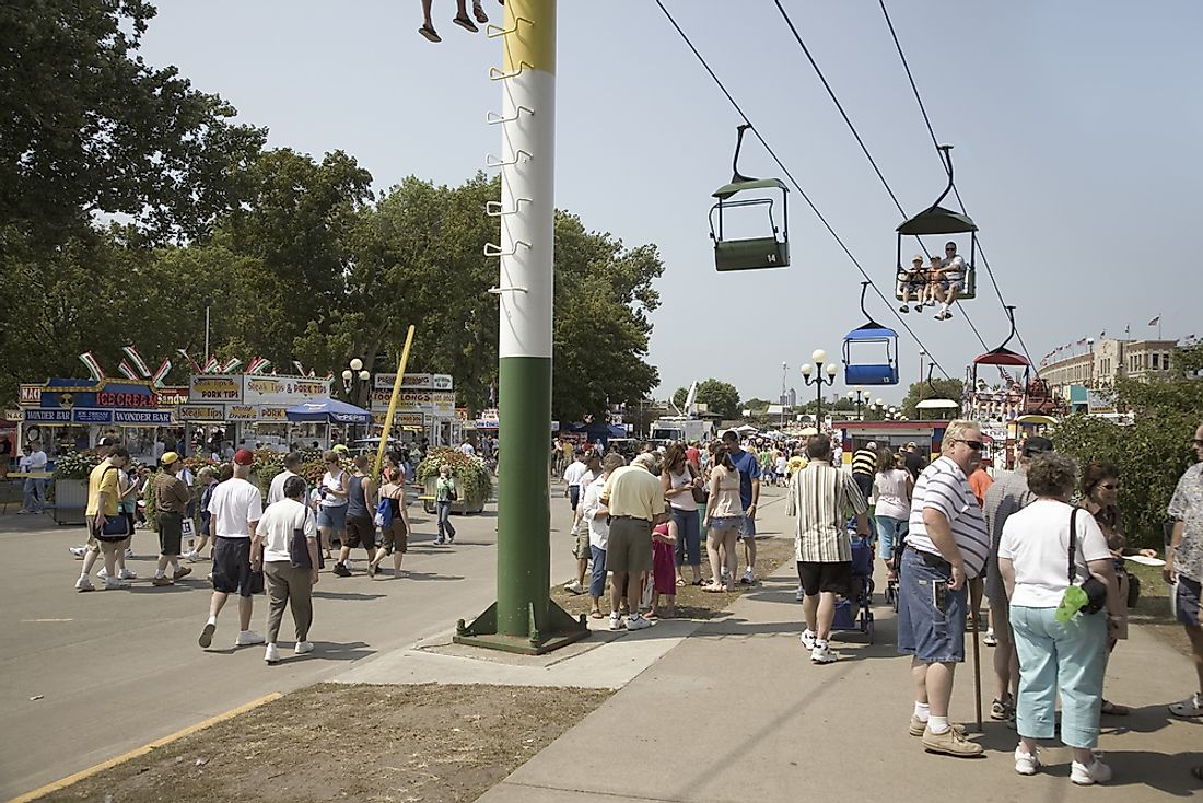 People at the State Fair in Des Moines, Iowa. Editorial credit: Joseph Sohm / Shutterstock.com.