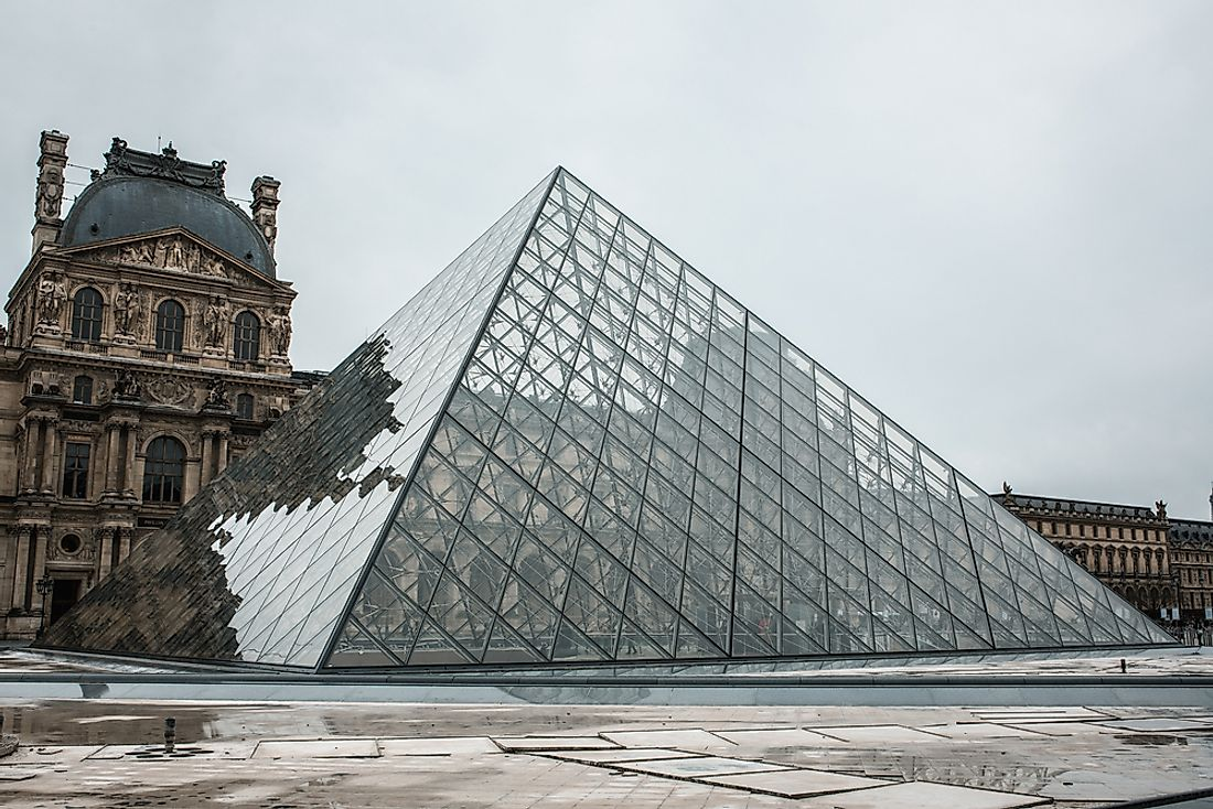 The Louvre, the largest museum in the world.