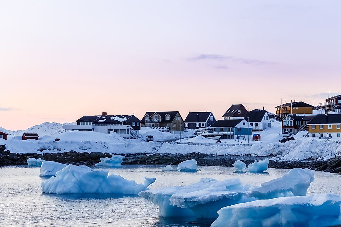 The harbor of Nuuk, Greenland.