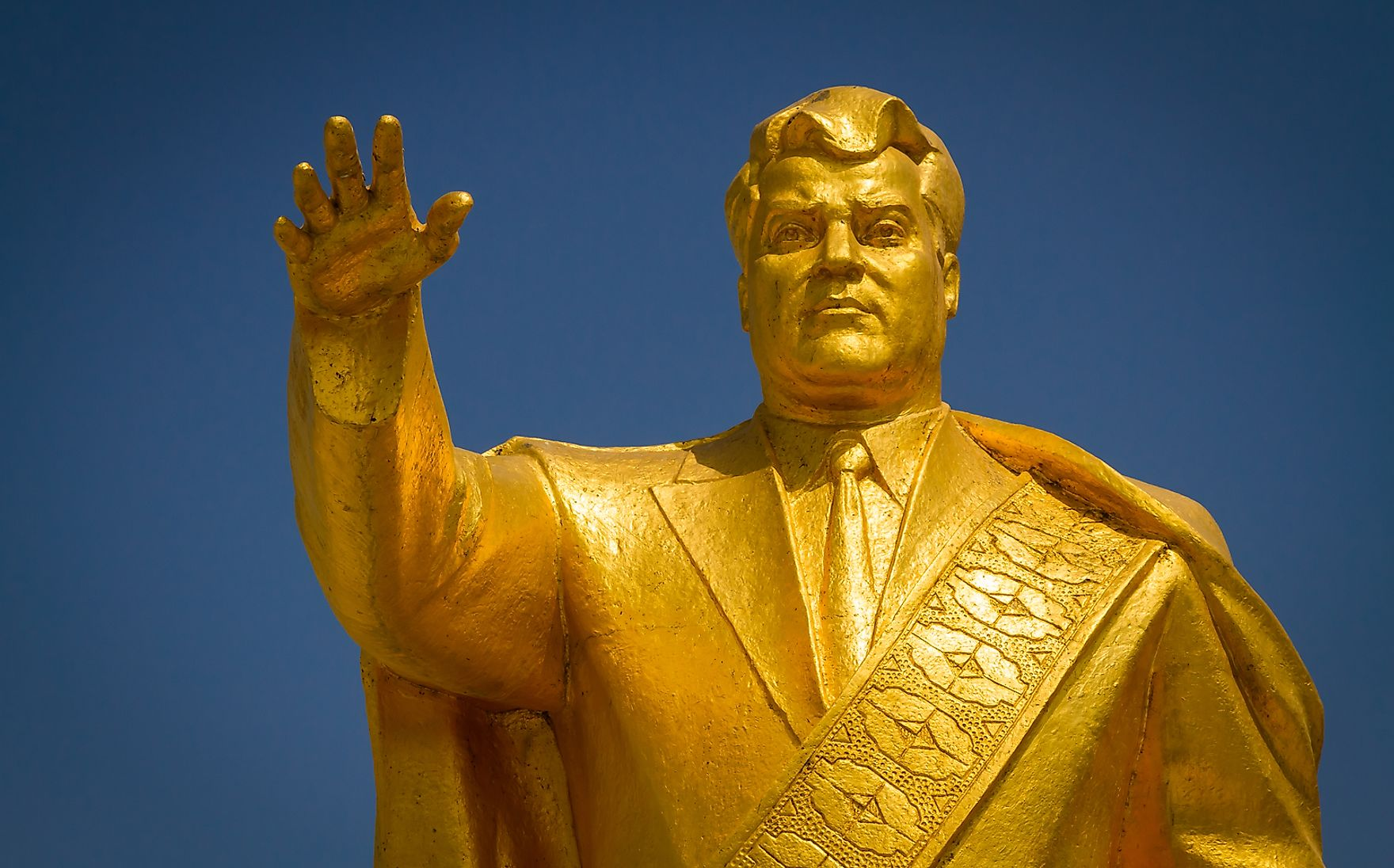 This may be surprising, but Niyazov fancied statues of himself, particularly in gold. Jakub Buza / Shutterstock.com.