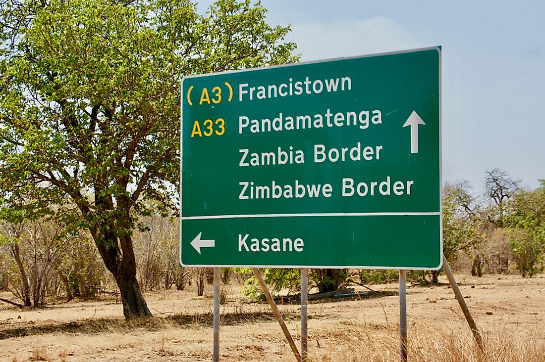 A street sign in Botswana.