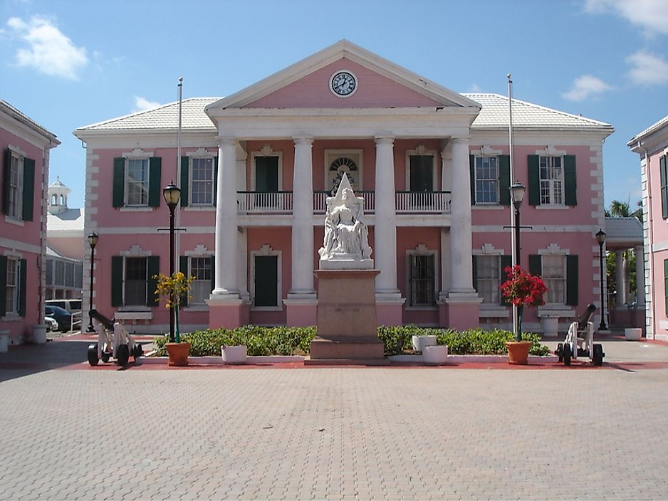 The Bahamian Parliament in Nassau, Bahamas.