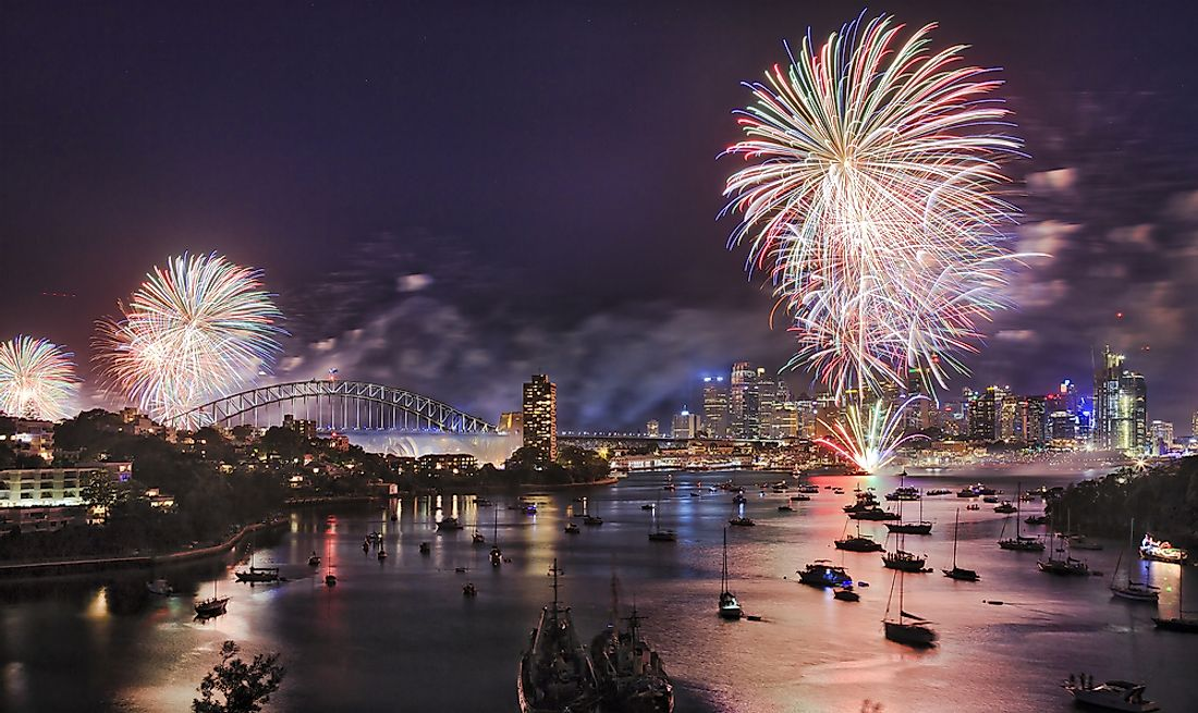 New Years Eve celebrations in Sydney, Australia.