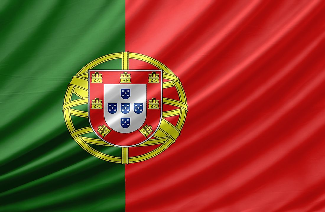The flag of Portugal.
