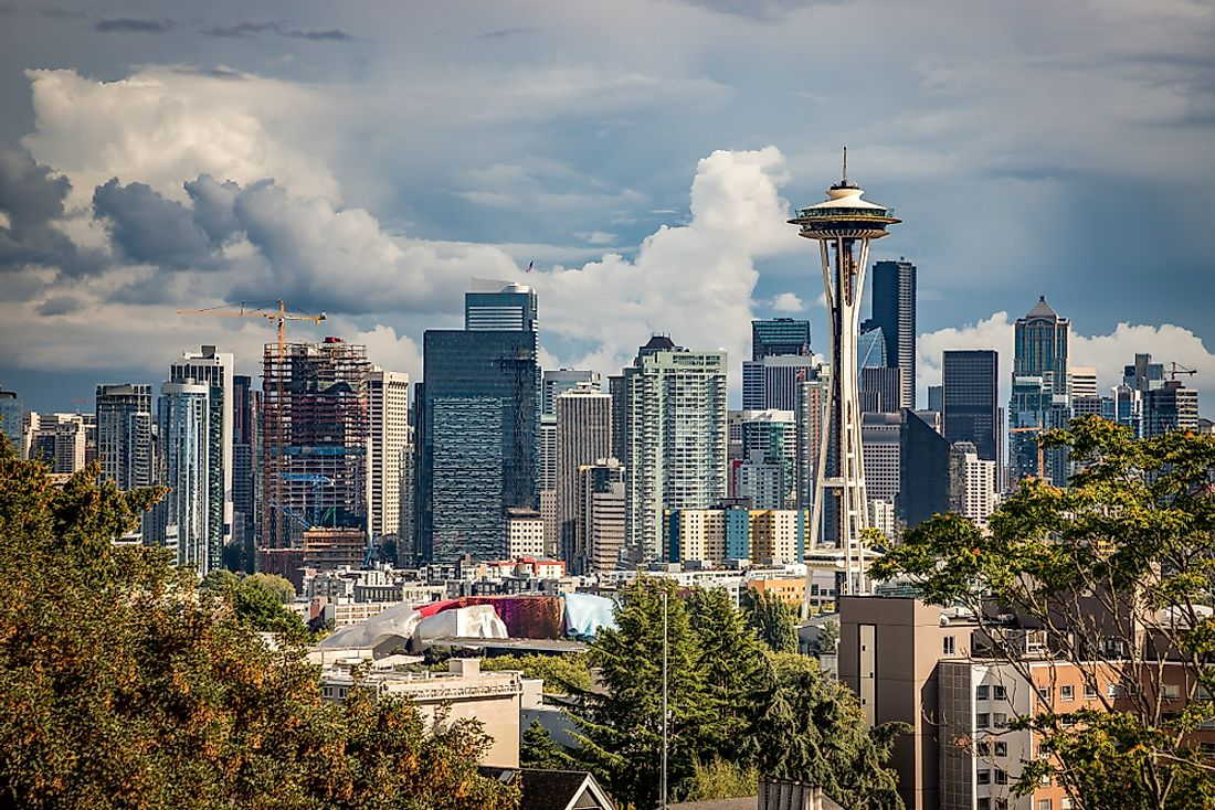 The skyline of Seattle, Washington.