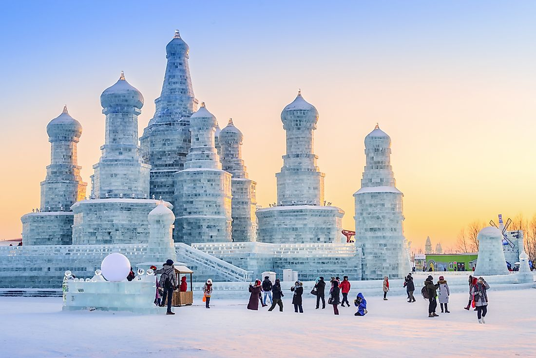 Editorial credit: aphotostory / Shutterstock.com. Harbin, China is home the world's largest ice and snow festival.