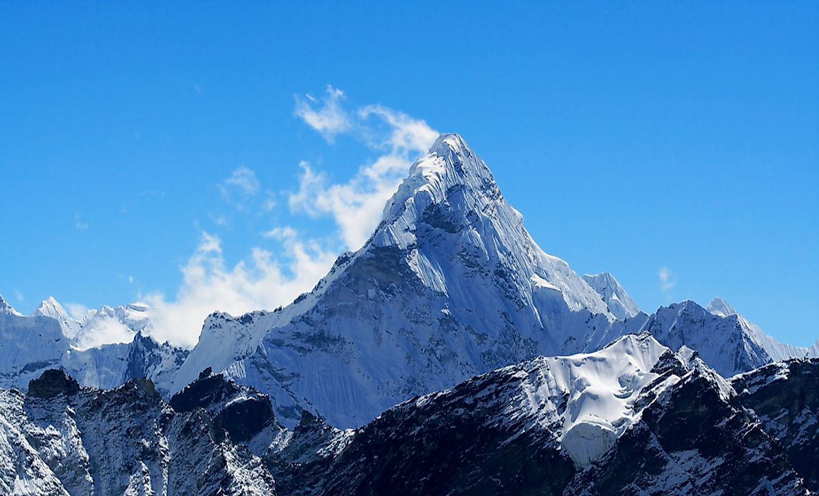 The summit of Mount Everest.