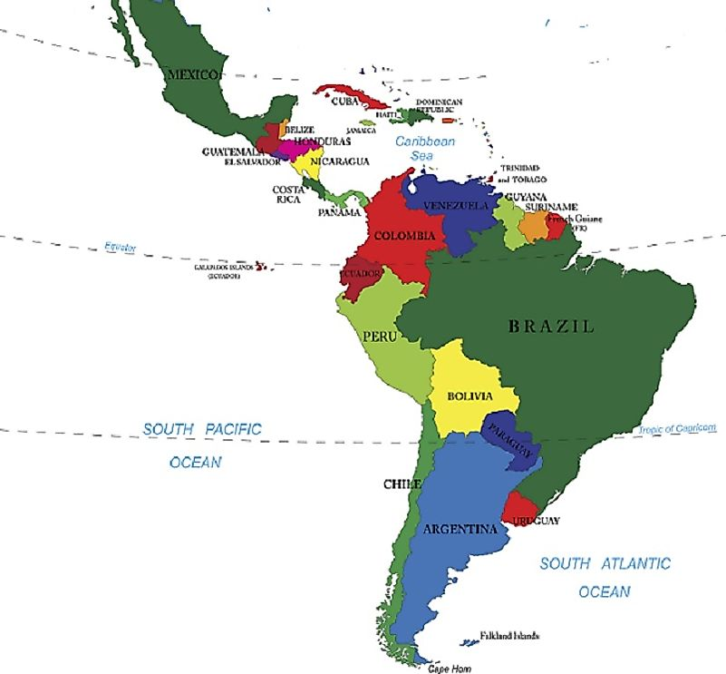 Latin america on world map sonundrobin latin gumiabroncs Choice Image