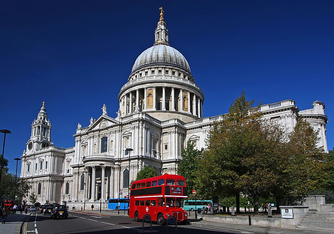 The dome is most distinctive feature of St. Paul's Cathedral, having overlooked London's skyline for over 250 years.