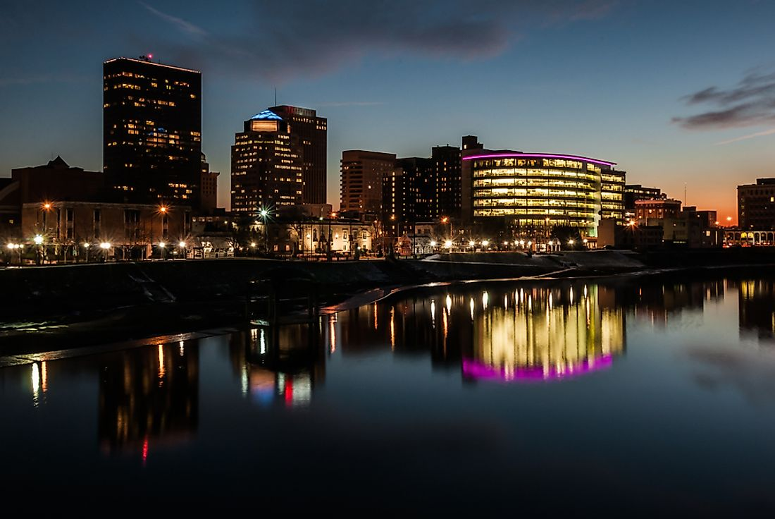 The skyline of Dayton, Ohio.