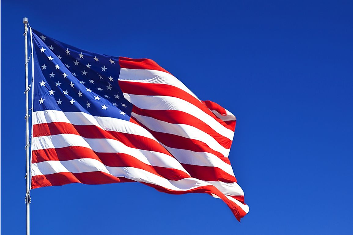 The stripes on the flag were reduced to 13 to celebrate the 13 founding states.